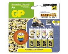 Батарейка GP «Гадкий Я-3» АА 4 шт и фишка с доп.реальностью (15ADME3MB-2CR4)