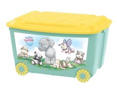 Ящик для игрушек Me to you на колесах зеленый 50 л