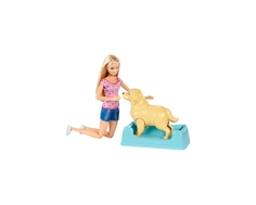 Игровой набор Barbie кукла и собака с новорожденными щенками