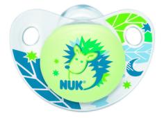 Пустышка NUK «Night & Day» силиконовая для сна 18 мес.+