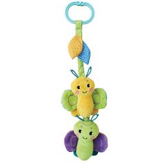Подвеска Жирафики «Бабочка» с вибрацией, пищалкой и шуршалкой, зеленая