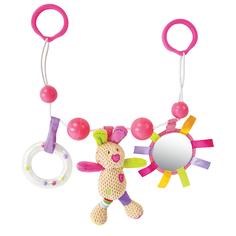 Подвеска Жирафики «Зайка Полли» с погремушкой, зеркальцем и мягкой игрушкой
