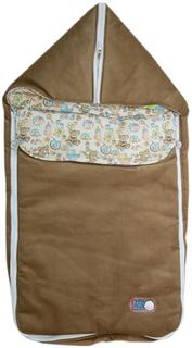 Конверт-трансформер Baby Nice с меховой подкладкой коричневый в ассортименте