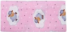 Комплект пеленок Barkito ситец, 2шт, розовая с рисунком Барашки, белая с рисунком Совушки, 90x120 см
