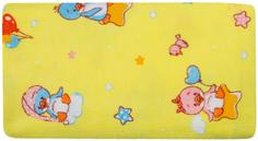 Комплект пеленок Barkito, фланель, 2шт, белая с рисунком Горошки, желтая с рисунком Пингвины, 90x120 см