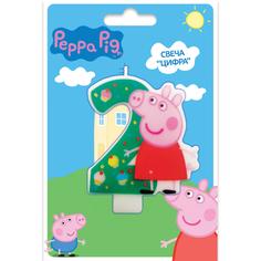Свеча Peppa Pig «Цифра 2»