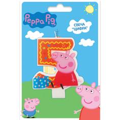 Свеча Peppa Pig «Цифра 5»
