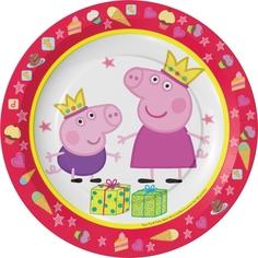 Тарелки одноразовые Peppa Pig «Пеппа Принцесса» 6 шт.