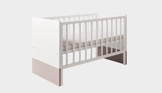 Кроватка Polini «Classic» белый снег - макиато
