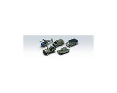 Игровой набор Welly «Военно-полицейская команда» из 5 машинок