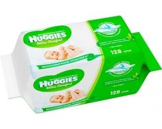Влажные салфетки Huggies «Ultra Comfort Аloe» со сменным блоком 2х64 шт.