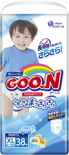 Трусики-подгузники Goo.N для мальчиков XL (12-20 кг) 38 шт. Goon