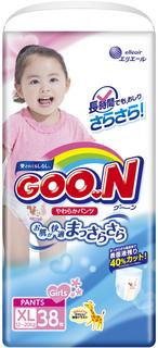 Трусики-подгузники Goo.N для девочек XL (12-20 кг) 38 шт. Goon