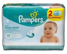Влажные салфетки Pampers «Baby fresh» со сменным блоком 2х64 шт.