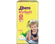 Трусики-подгузники Libero Dry Pants 5 (10-14 кг) 32 шт.