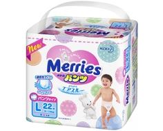 Трусики-подгузники Merries L (9-14 кг) 22 шт.