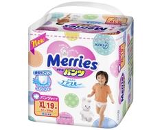 Трусики-подгузники Merries XL (12-22 кг) 19 шт.
