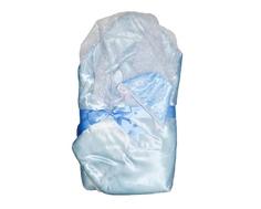 Одеяло меховое Снежинка голубое Argo