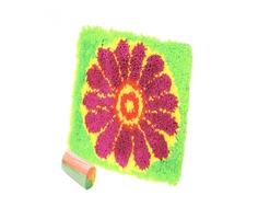 Набор для вышивания Делай с мамой «Коврик цветок»