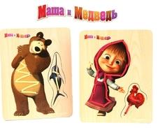 Игра-шнуровка Затейники «Маша и Медведь» в ассортименте