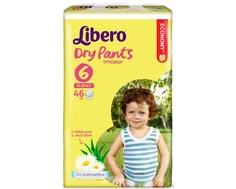 Трусики-подгузники Libero Dry Pants 6 (13-20 кг) 46 шт.