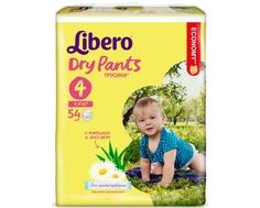 Трусики-подгузники Libero Dry Pants 4 (7-11 кг) 54 шт.