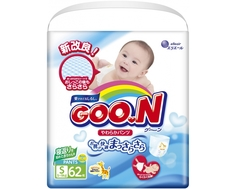 Трусики-подгузники Goo.N S (5-9 кг) 62 шт. Goon