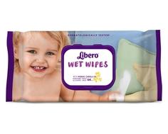 Детские влажные салфетки Libero Wet Wipes сменный блок 64 шт.