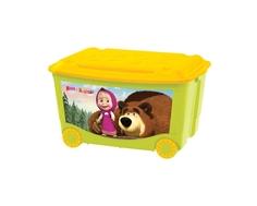 Ящик для игрушек Пластишка «Маша и Медведь» на колесах 50 л в ассортименте