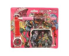 Набор для девочки Monster High с кошельком и часами