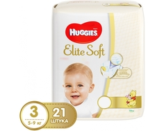 Подгузники Huggies Элит Софт 3 (5-9 кг) 21 шт
