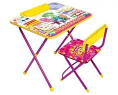 Комплект мебели Ника «Фикси Знайка» стол 60х45 см с пеналом и стул Nika