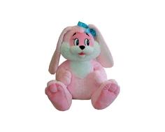 Мягкая игрушка СмолТойс «Зайчик» 45 см розовая
