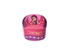 Кресло СмолТойс «Маша и Медведь» 40х40х45 см скругленное розовое