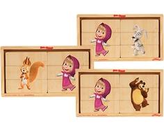 Игрушка деревянная Затейники «Маша и Медведь: Маша и ее друзья» в ассортименте