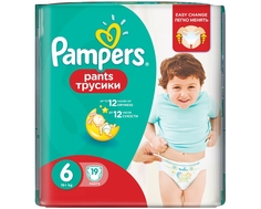 Трусики-подгузники Pampers Pants 6 (16+ кг) 19 шт.