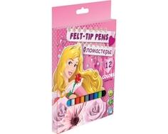 Набор цветных фломастеров Disney Princess 12 шт.