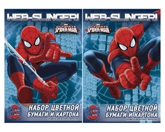 Набор цветной бумаги Spider-man 10 цв.