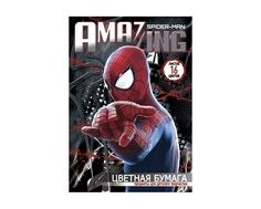 Цветная бумага Spider-man 16 цв.