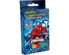 Мелки восковые Spider-Man 6 цв.