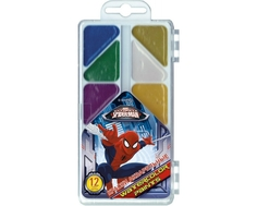 Краски акварельные Spider-Man медовые 12 цв.
