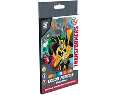 Набор цветных карандашей Transformers 18 шт.