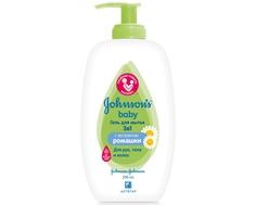 Гель для мытья Johnsons Baby с экстрактом ромашки 3в1 200 мл