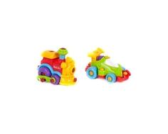 Игровой набор Keenway «Buildn Play: Гоночная машина и паровоз»