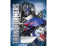 Тетрадь в линейку Transformers 12 листов в ассортименте