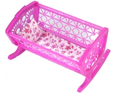 Кроватка для куклы Just Cool розовая