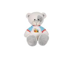 Мягкая игрушка СмолТойс «Медвежонок Тишка» 45 см молочно-голубая