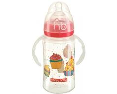 Бутылочка Happy baby «Milky stories» с ручками 240 мл