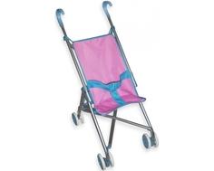 Коляска для куклы Mami «Трость» розово-голубая