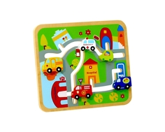 Лабиринт ToysLab «Транспорт» деревянный